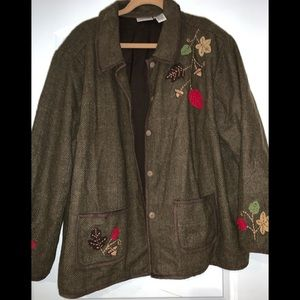 Great wool blend jacket - tweed